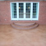 Stained Concrete Patio Wapakoneta Ohio 1