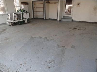 Concrete Garage Floor - Garage (before)