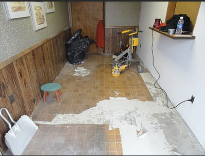 Concrete Floor Application - Office (before)