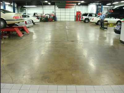 Concrete Showroom Floor Before